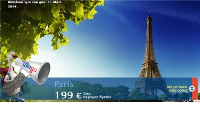 İstanbul Paris Uçak Bileti Kampanyalar