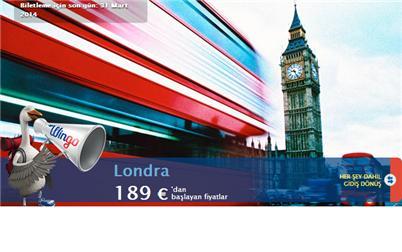 İstanbul Londra Uçak Bileti Kampanyalar